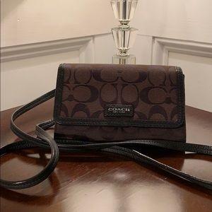 Coach crossbody wallet